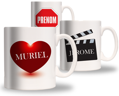mug pr nom cadeau personnalis et id e cadeau original. Black Bedroom Furniture Sets. Home Design Ideas